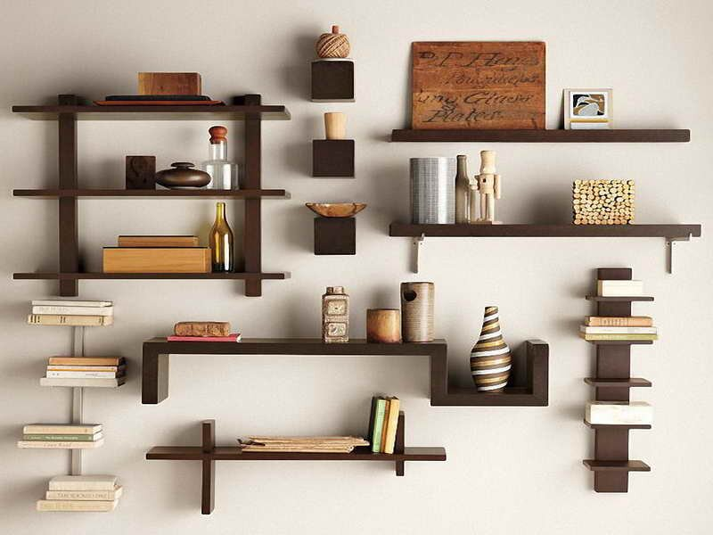 16 beautiful shelf designs and decors mostbeautifulthings - Wooden Wall Rack Designs