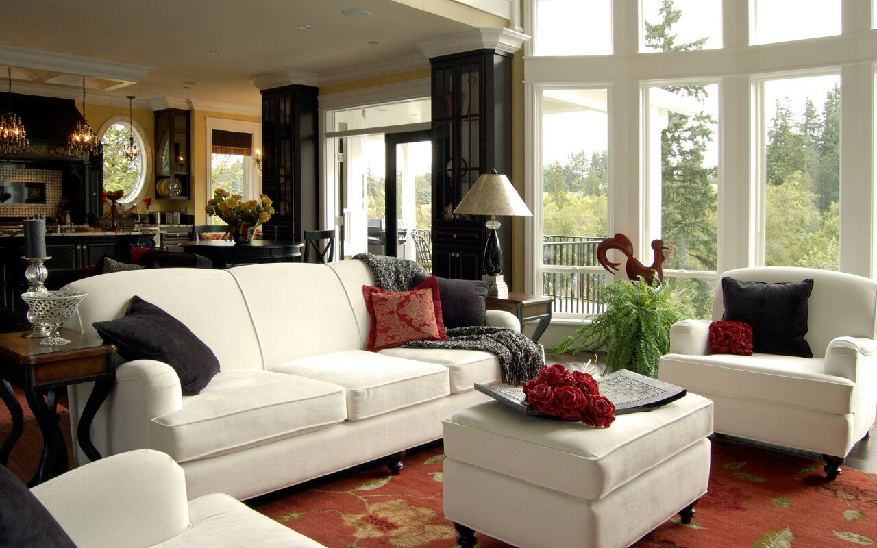 Living room decorating ideas with 15 photos for Design for living room ideas