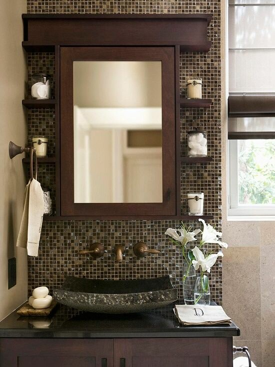 Bathroom decorating ideas with 15 photos mostbeautifulthings for Pretty small bathroom ideas