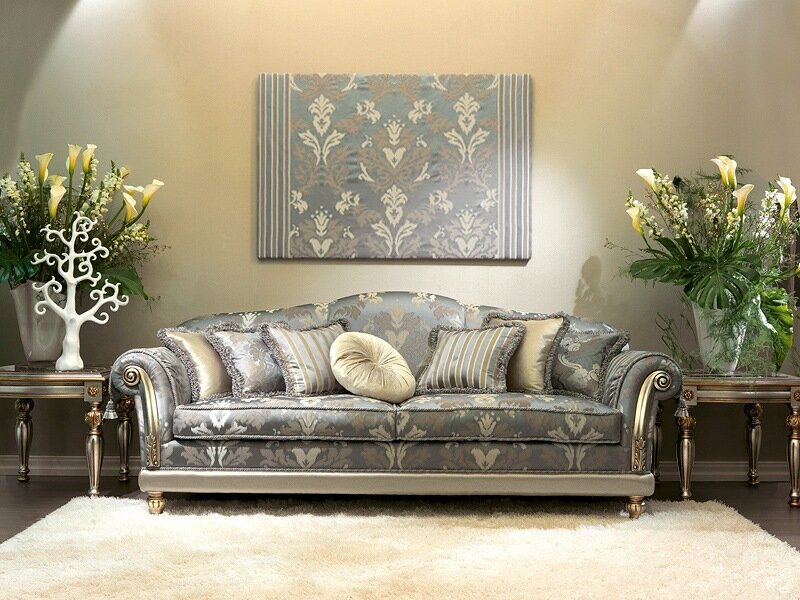 Beautiful Camelia Luxury Classic Sofas with Grey Color Design Fabulous  Living Room Cream Carpet with Indoor