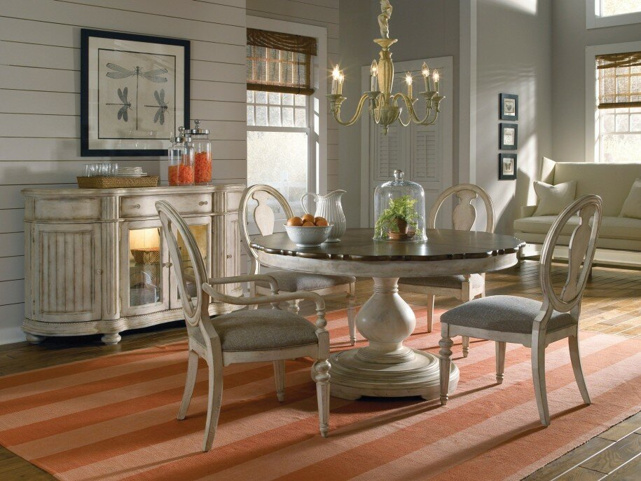 Beautiful Kitchen Tables Delectable With Round Cream Dining Room Table Set Picture