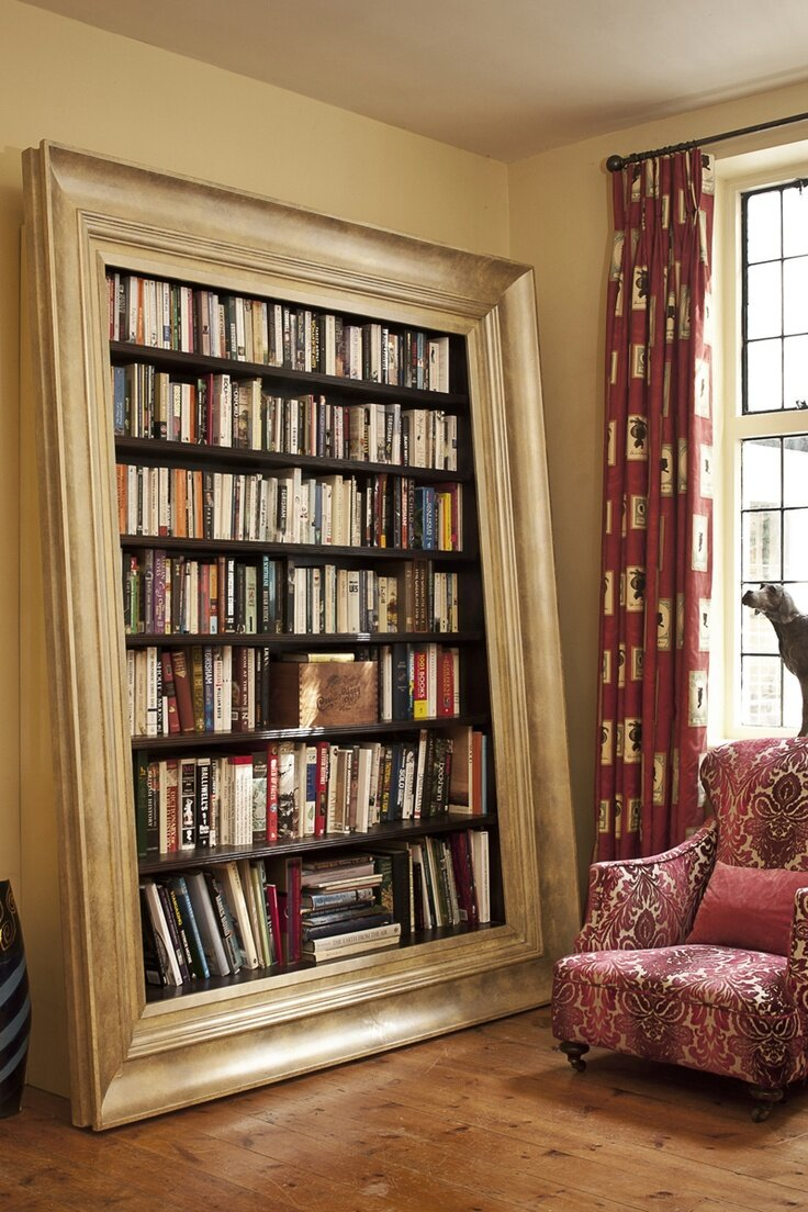 16 decorative bookcase designs and ideas mostbeautifulthings. Black Bedroom Furniture Sets. Home Design Ideas