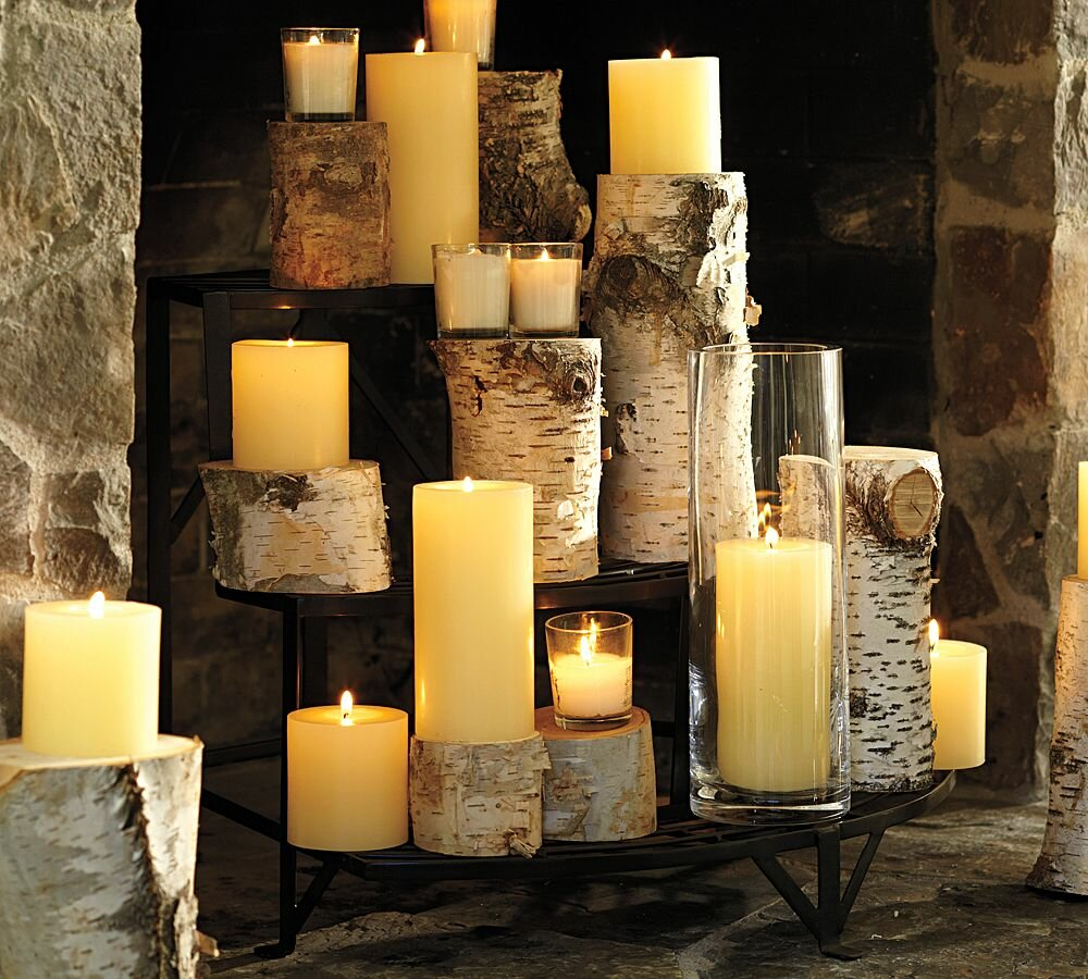 15 great ideas of decorating with candles - Chimenea de decoracion ...