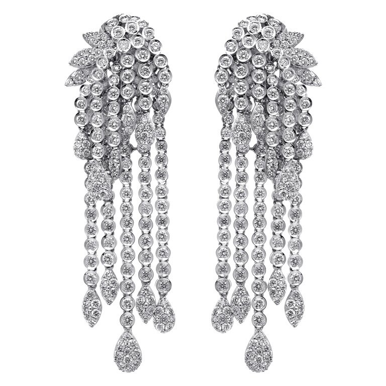 Long diamond earrings designs ~ beautify themselves with earrings