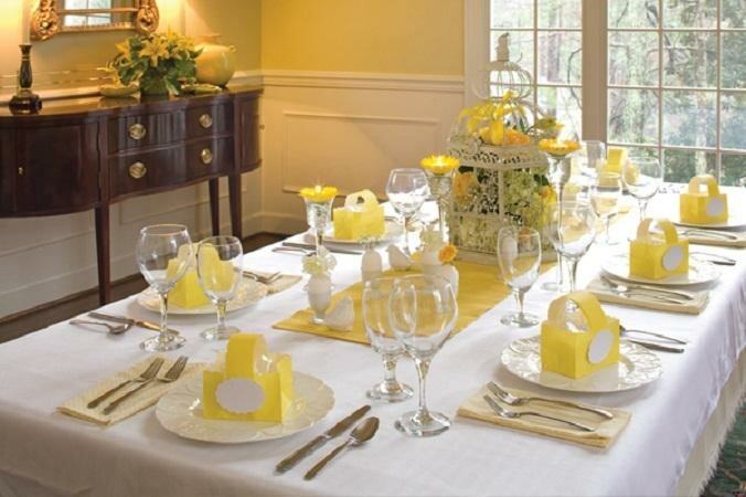 15 dining table decoration samples mostbeautifulthings - Easter table decorations meals special ...