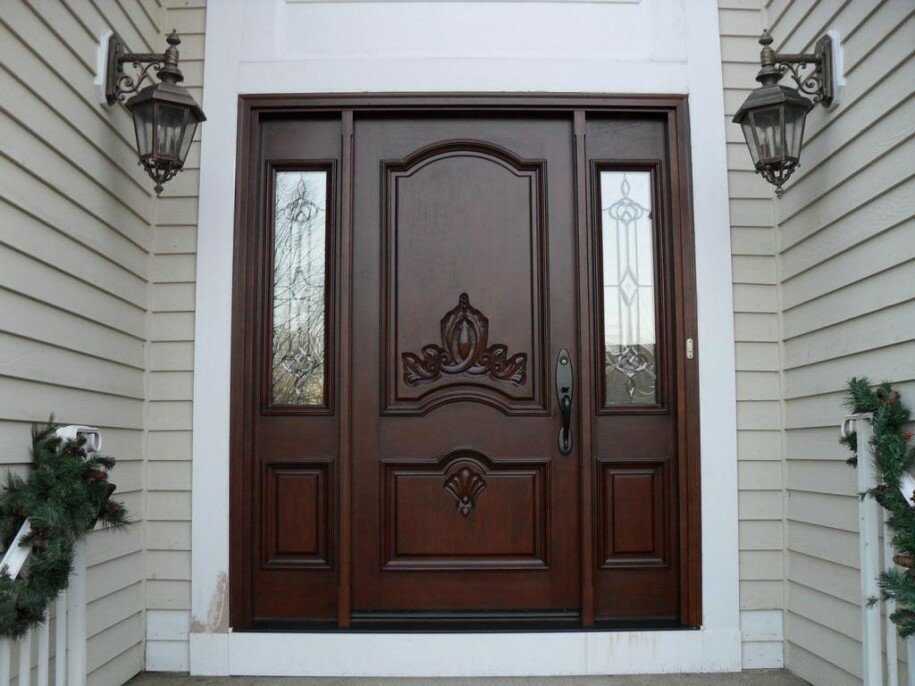 Top 15 exterior door models and designs mostbeautifulthings for Exterior wooden door designs