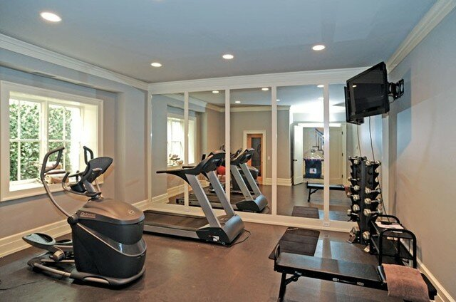 13 home fitness room design examples mostbeautifulthings ForHome Gym Room
