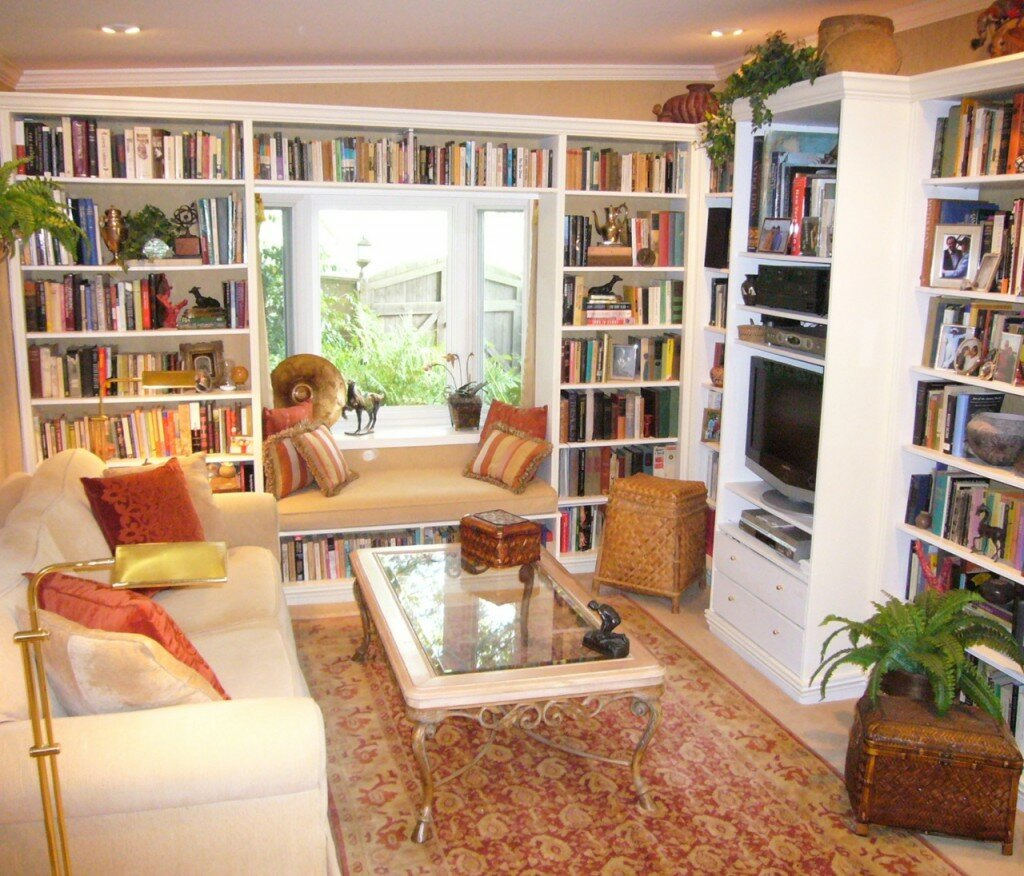 15 home library design examples mostbeautifulthings for Cozy reading room design ideas