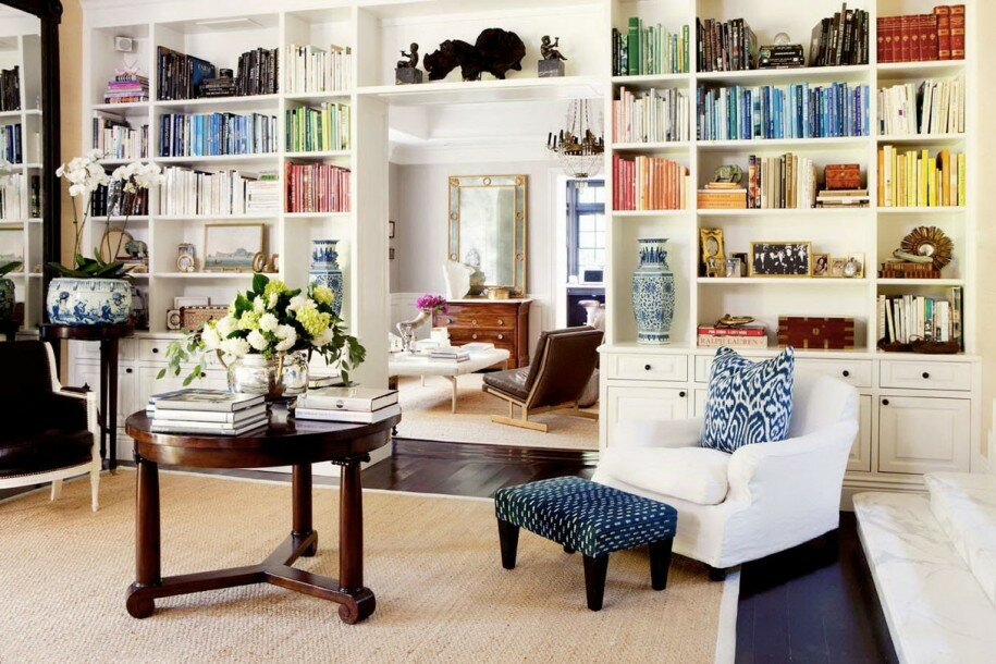 15 home library design examples mostbeautifulthings - Books on home design ...