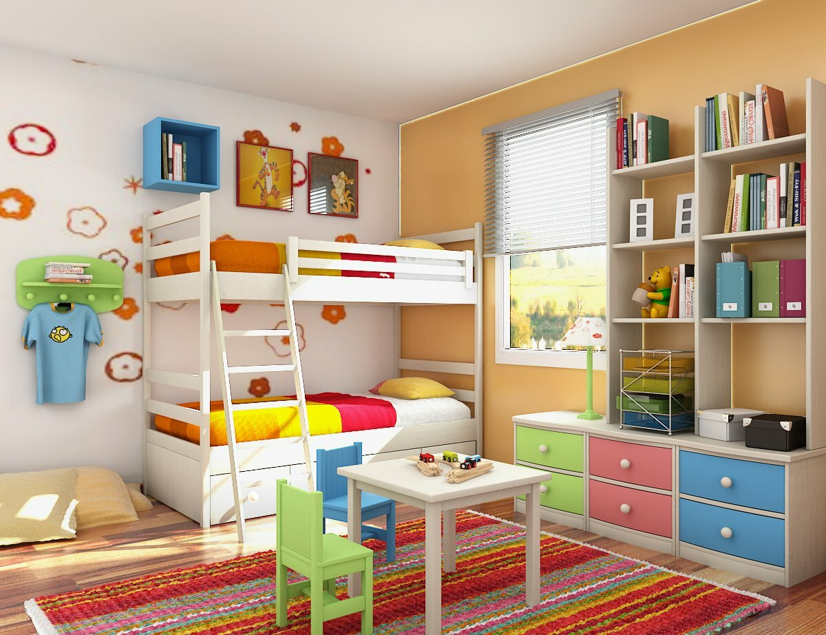 Decorating kids room home design elements for Bedroom suite decorating ideas
