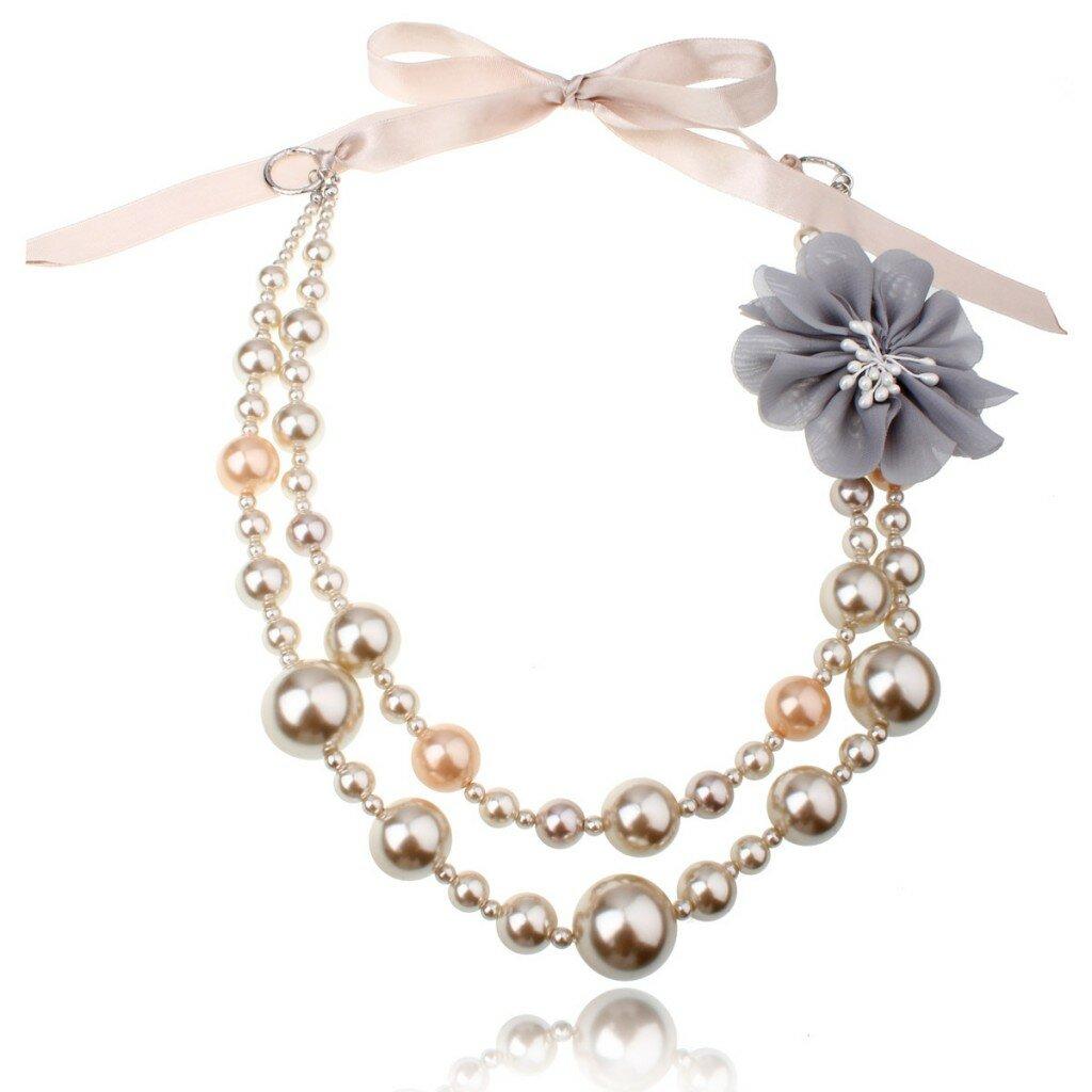 beautiful bridal wedding pearl necklace design