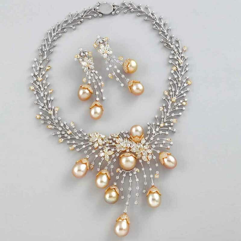 Pearl Necklace Designs Decoration Home Goods Jewelry Design