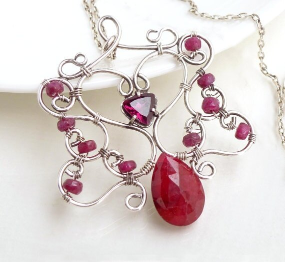 ruby necklaces 2
