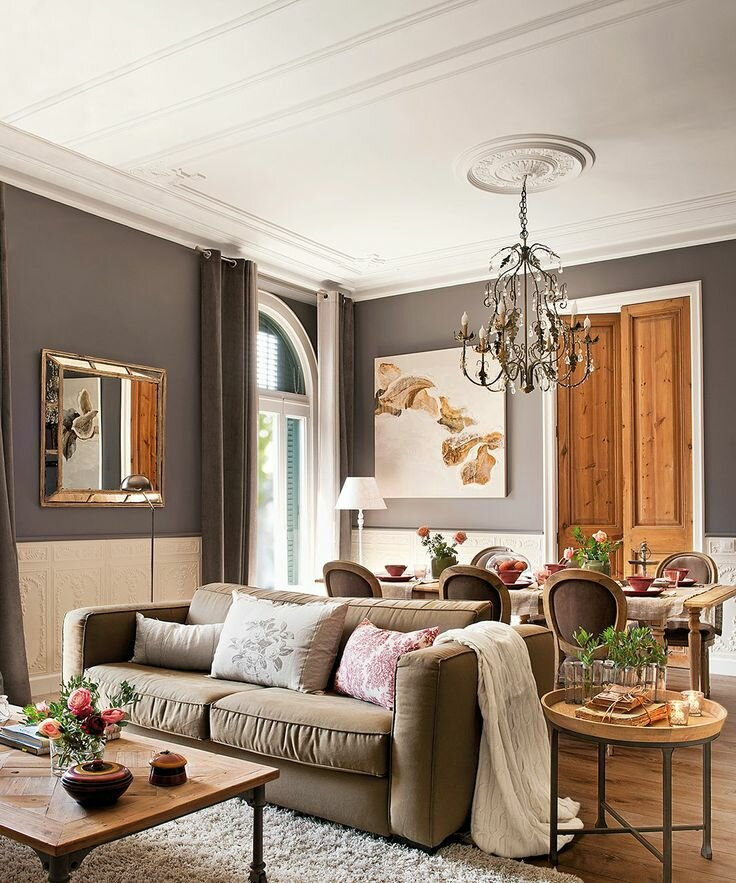 Perfect salon decorating ideas with 15 pics mostbeautifulthings - Decoration salon gris ...
