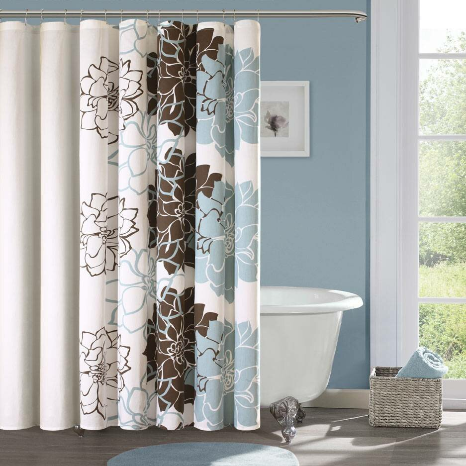 Blue bathroom curtains - Bathroom Shower Curtains 3