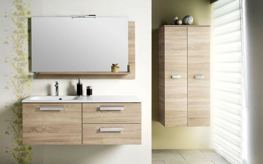 The 22 best bathroom sink cabinet designs - Meuble vasque retro ...