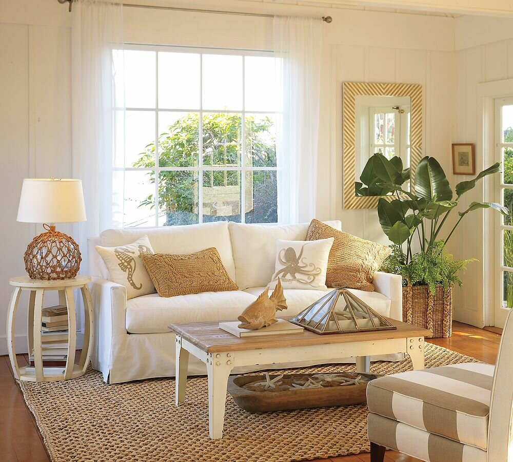 Top 21 beach home decor examples mostbeautifulthings for Beach cottage style decor