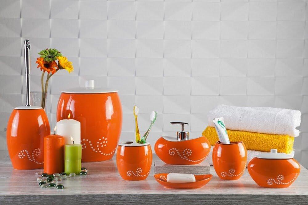 Accessoire Salle De Bain Orange – Idées d\'images à la maison