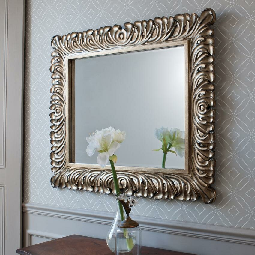 Decorative bedroom mirrors in 21 example pics for Fancy mirror