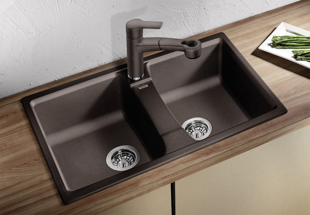 Black Double Sink Kitchen : ... black kitchen sink black sink designs black sink ideas in this article