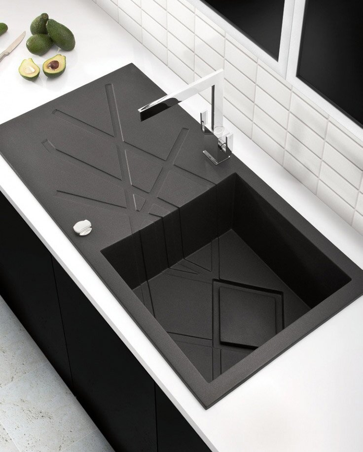 Black Kitchen Sink on 5 inspiring kitchen design ideas