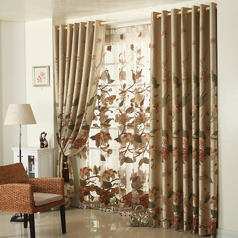 Top 22 curtain designs for living room mostbeautifulthings for Curtain designs living room