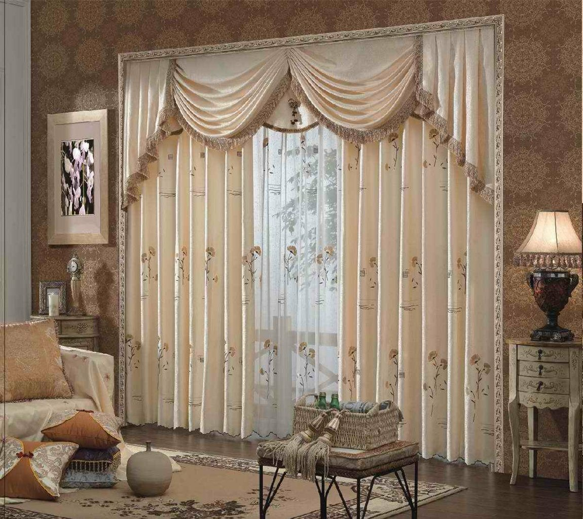 Top 22 curtain designs for living room mostbeautifulthings for Les modeles de salon