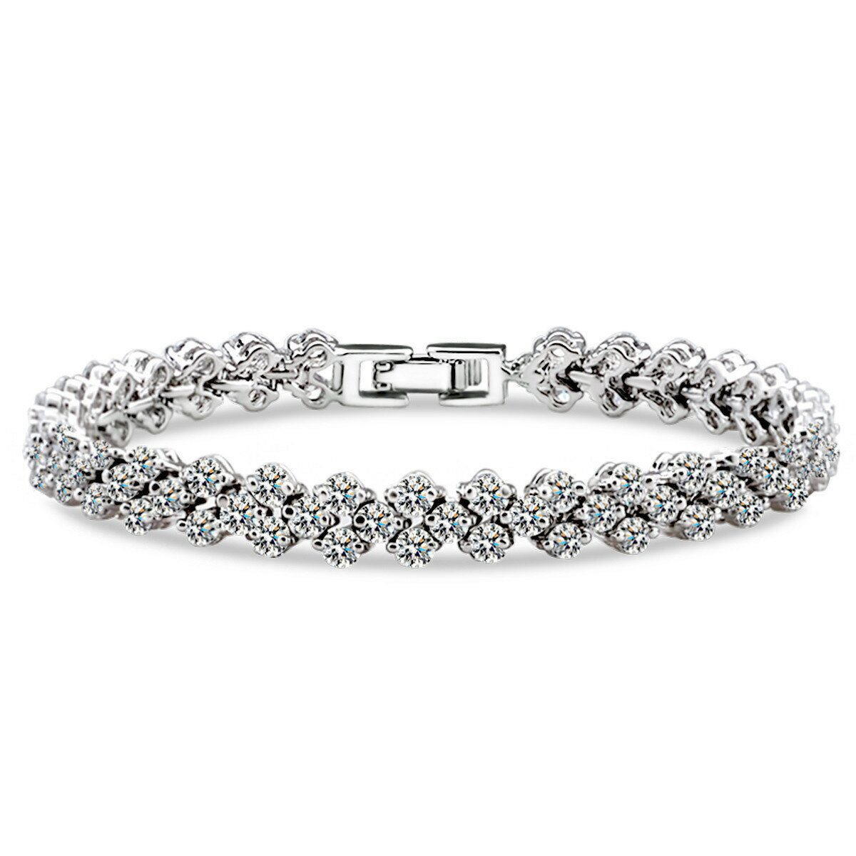 diamond j bracelet white gold tennis collection unique product