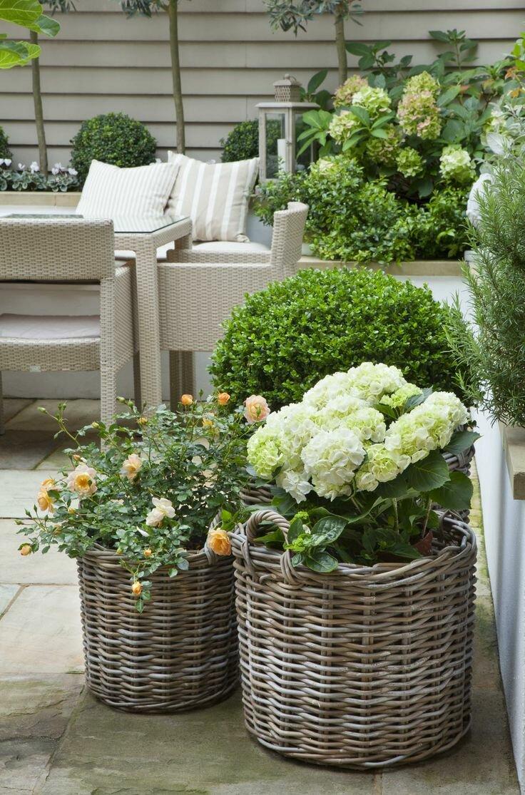 Baskets in the Garden – Hackberry Hill