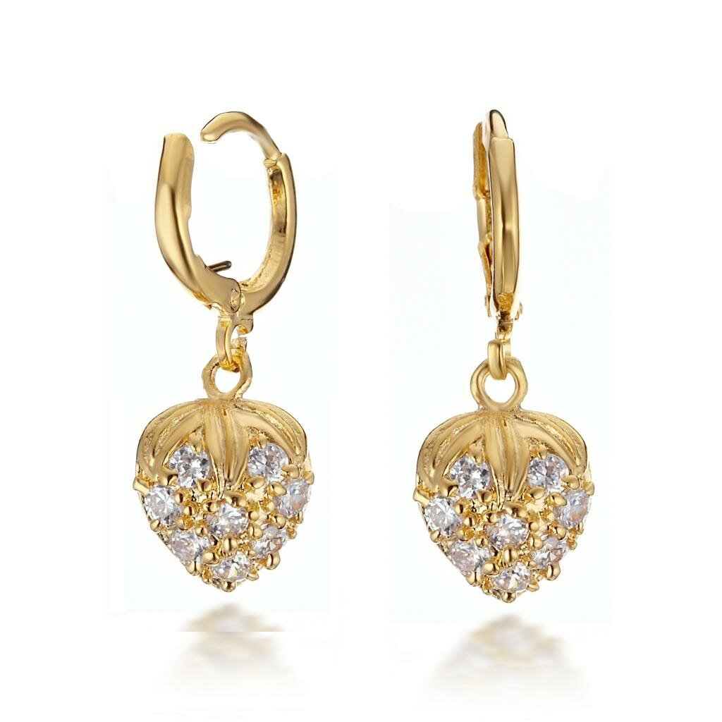 linked ring and pin earrings golden free shipping
