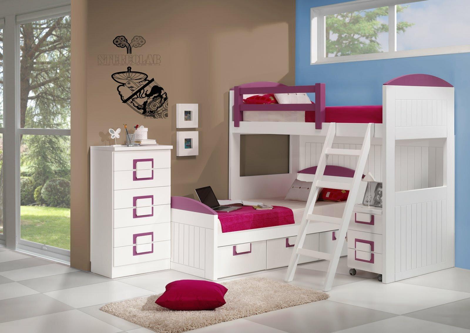 22 inspiring kids bedroom furniture designs for Habitaciones juveniles modernas