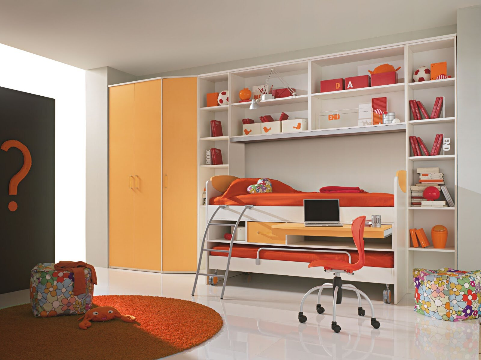 22 inspiring kids bedroom furniture designs for Furniture for toddlers room