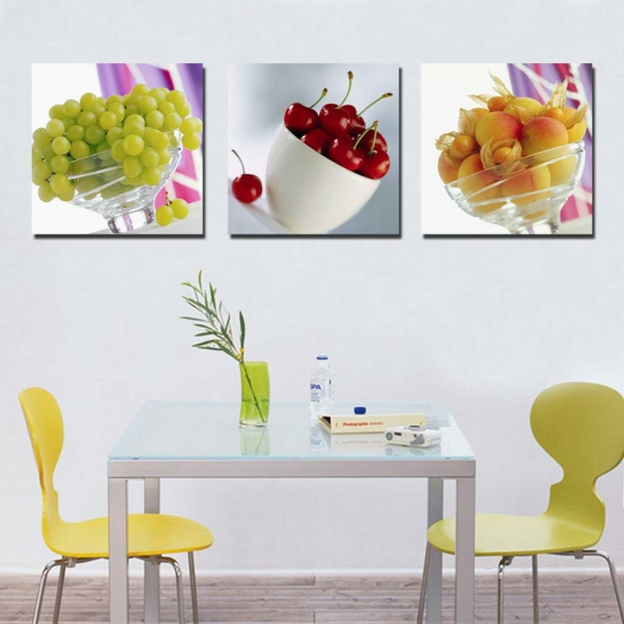 20 nice kitchen wall decors and ideas mostbeautifulthings for Kitchen wall art sets
