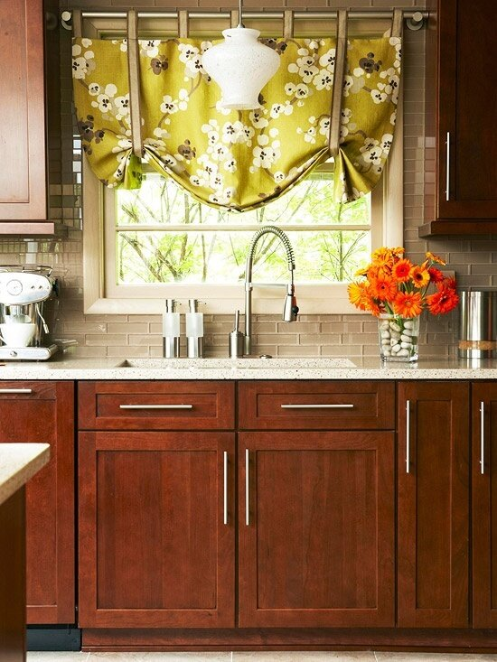 19 inspiring kitchen window curtains mostbeautifulthings - Curtain for kitchen door ...