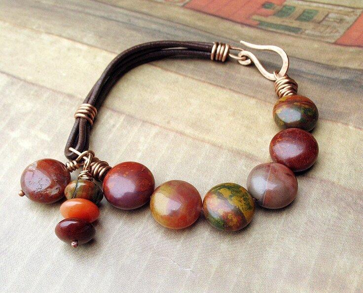Leather Bracelet Design Ideas - Bangle And Bracelets
