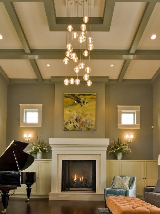 Top 18 living room ceiling light designs mostbeautifulthings for Modern living room lighting ideas