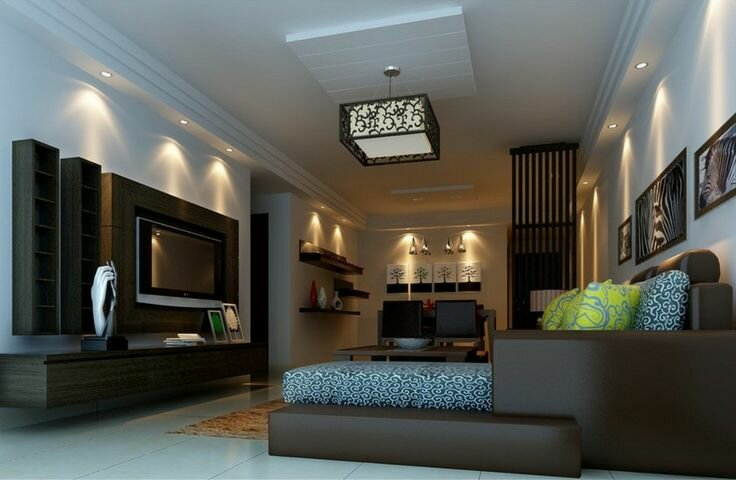 Top 18 living room ceiling light designs mostbeautifulthings for Living room overhead lighting