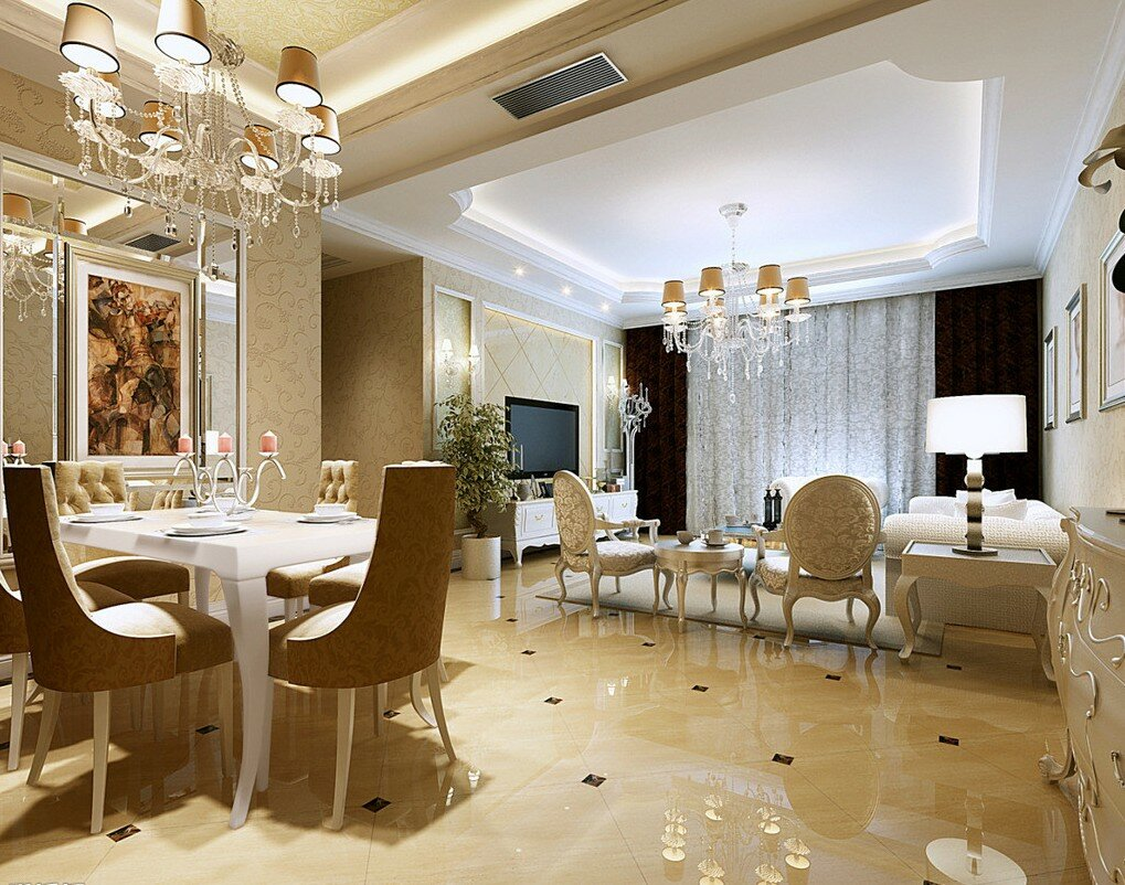 Top 21 luxury interior design examples mostbeautifulthings for Luxury dining room design