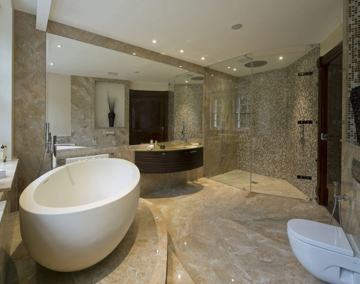 Top 25 modern bathroom design examples mostbeautifulthings for Photos of contemporary bathrooms