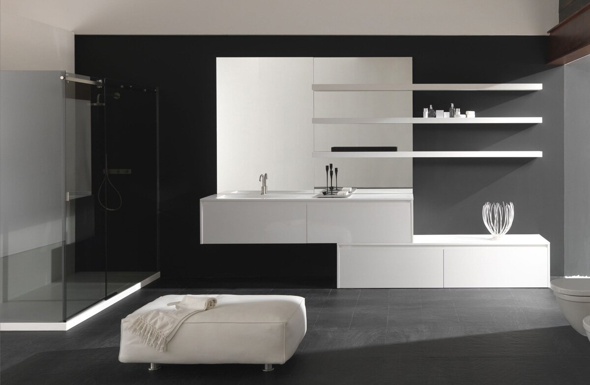 Top 23 designs of modern bathroom vanities mostbeautifulthings for Contemporary bathroom wall cabinets