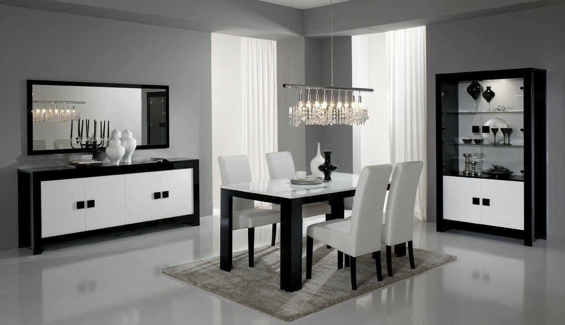 23 modern dining room examples with photos for Modern dining room sets