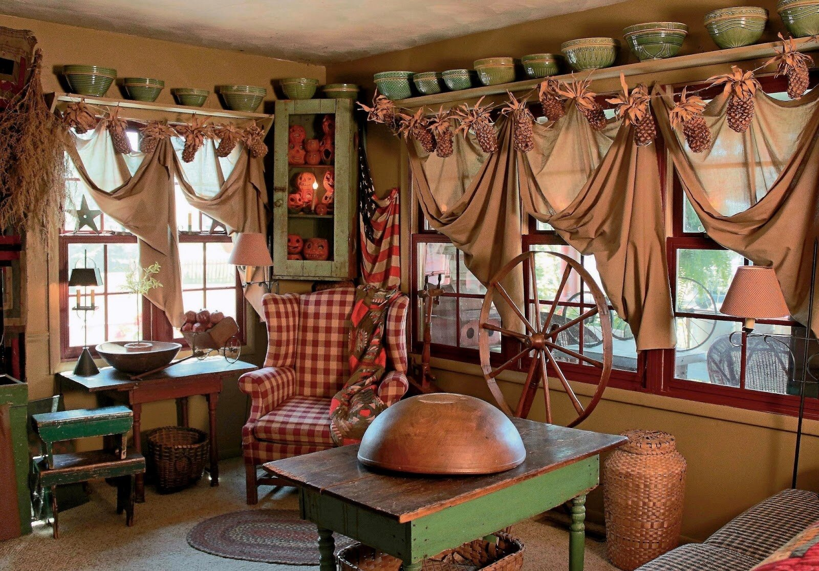 20 inspiring primitive home decor examples for Primitive living room ideas