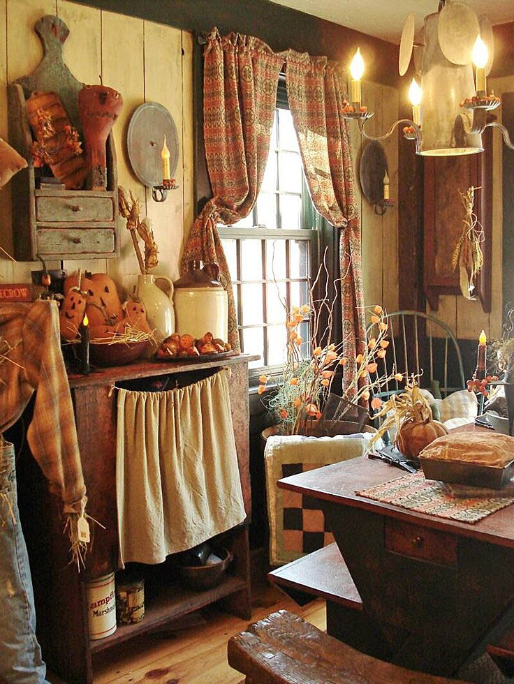 20 inspiring primitive home decor examples for Country decor