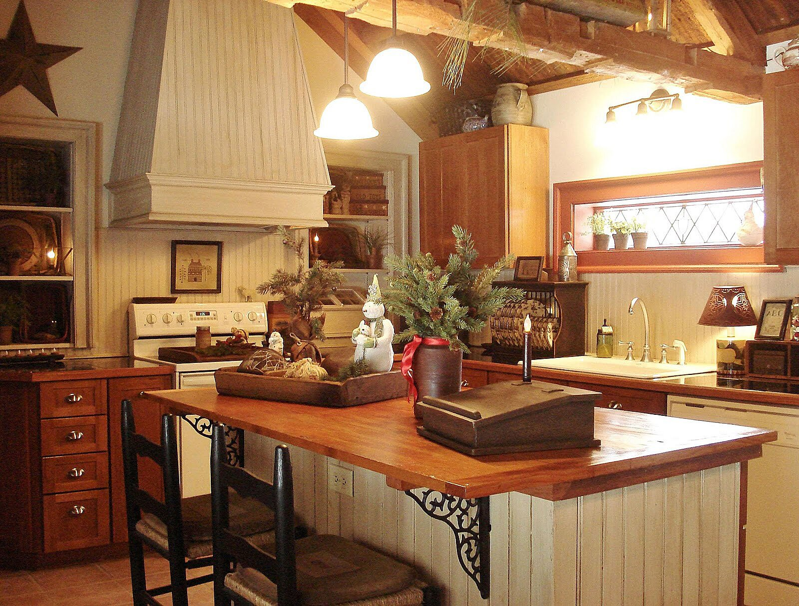 20 inspiring primitive home decor examples for Country kitchen designs