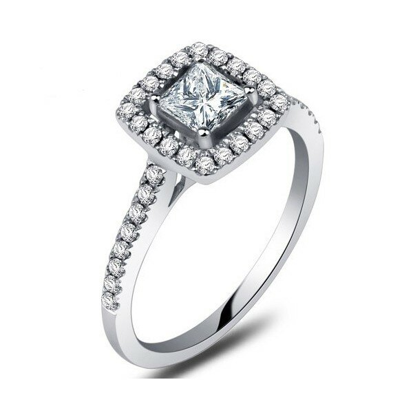 princess cut diamond rings 4