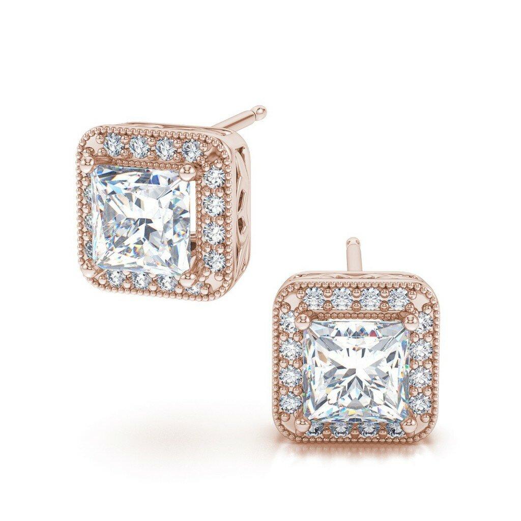 Carat Diamond Stud Earrings Yellow Gold
