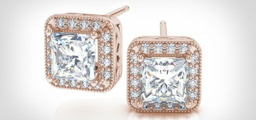 princess cut diamond stud earrings 18