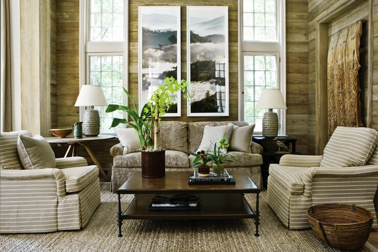 22 best examples of rustic home decor mostbeautifulthings Curtains for wood paneled room