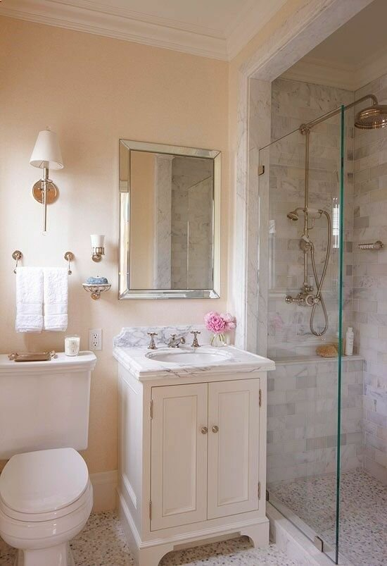 17 small bathroom ideas with photos mostbeautifulthings for Bathroom interiors for small bathrooms