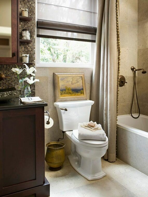 17 small bathroom ideas with photos mostbeautifulthings for Toilet decor pictures